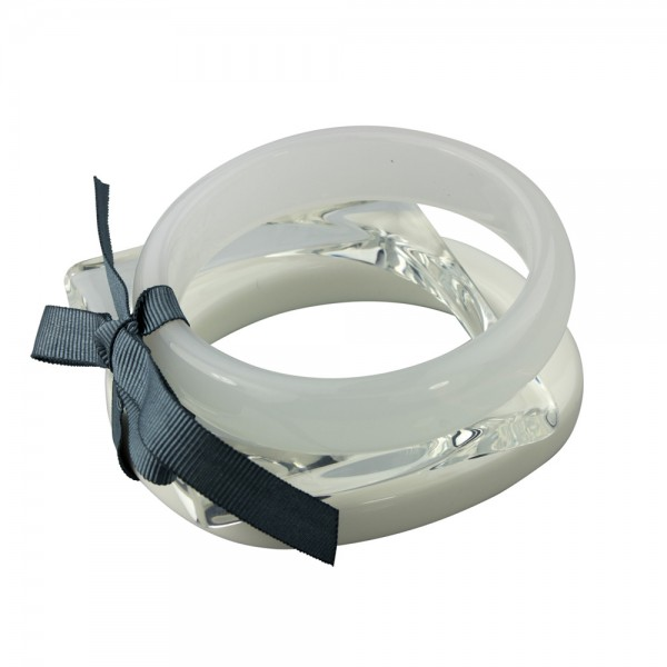 Bracelet White & Crystal